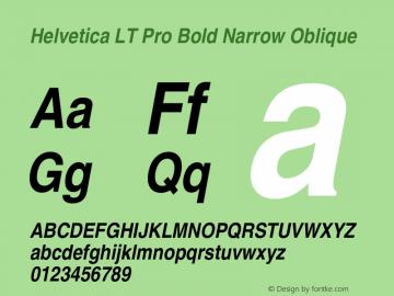 HelveticaLTPro-BdNarrowObl Version 2.000 Build 1000图片样张