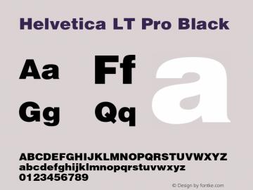 Helvetica LT Pro Black Version 1.00 Build 1000图片样张