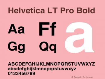Helvetica LT Pro Bold Version 2.000 Build 1000图片样张