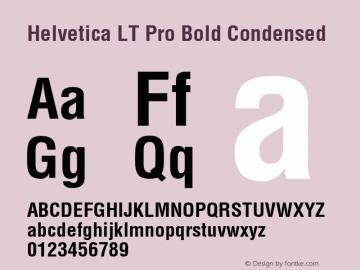 Helvetica LT Pro Condensed Bold Version 1.00 Build 1000图片样张