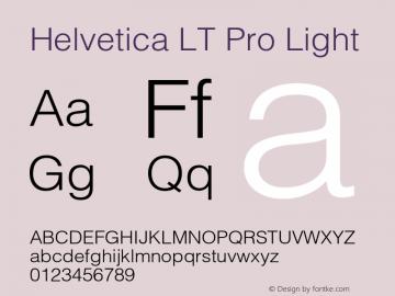 Helvetica LT Pro Light Version 1.00 Build 1000图片样张