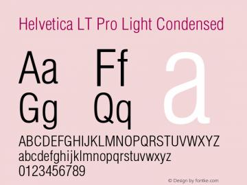Helvetica LT Pro Light Cond Version 1.00 Build 1000图片样张