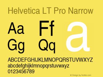 Helvetica LT Pro Narrow Version 2.000 Build 1000图片样张