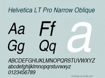 Helvetica LT Pro Narrow Oblique Version 2.000 Build 1000图片样张