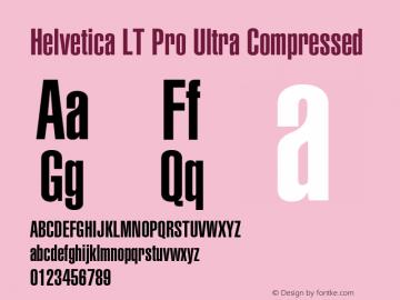Helvetica LT Pro UltCompressed Version 1.00 Build 1000图片样张