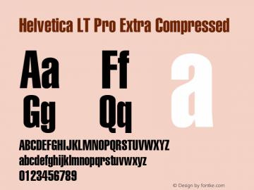 Helvetica LT Pro ExtraComp Version 1.00 Build 1000图片样张
