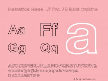 HelveticaNeueLTPro-BdOu Version 2.000 Build 1000图片样张