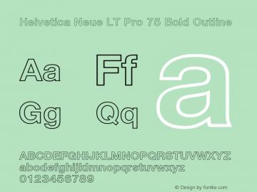 HelveticaNeueLT Pro 75 BdOu Version 2.000 Build 1000图片样张