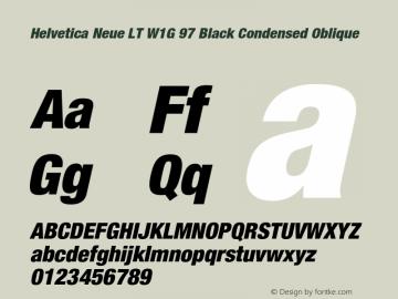 HelveticaNeueLTW1G-BlkCnO Version 2.000 Build 1000图片样张