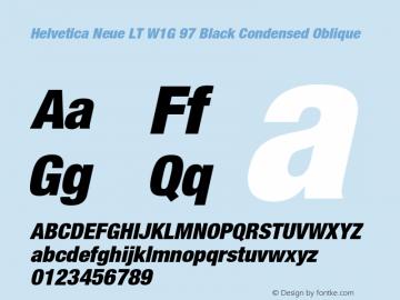 HelveticaNeueLT W1G 97 BlkCn Italic Version 1.00 Build 1000图片样张