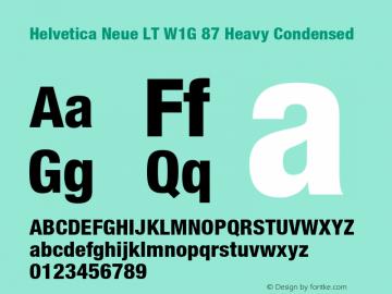 HelveticaNeueLT W1G 67 MdCn Bold Version 1.00 Build 1000图片样张