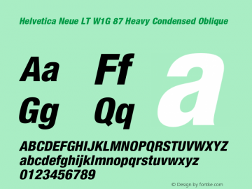HelveticaNeueLTW1G-HvCnO Version 2.000 Build 1000图片样张