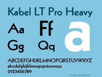 Kabel LT Pro Font,Kabel LT Pro Heavy Font,Kabel LT Pro Light