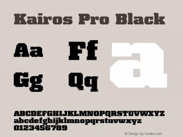 Kairos Pro Black Version 1.00图片样张