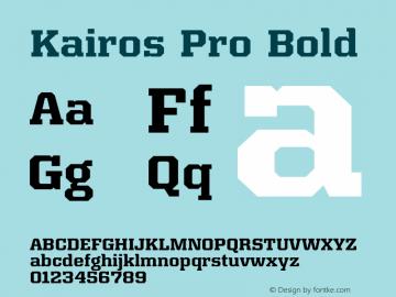 Kairos Pro Bold Version 1.00图片样张