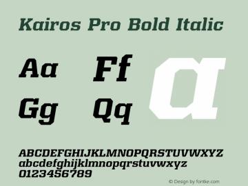 Kairos Pro Bold Italic Version 1.00图片样张