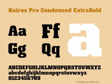 Kairos Pro Condensed XBold Version 1.00图片样张