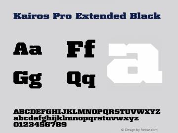 Kairos Pro Extended Black Version 1.00图片样张