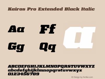 Kairos Pro Extended Black It Version 1.00图片样张