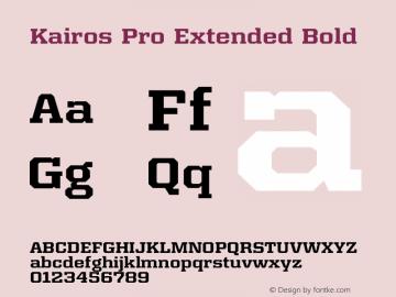 Kairos Pro Extended Bold Version 1.00图片样张
