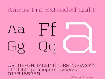 Kairos Pro Extended Light Version 1.00图片样张