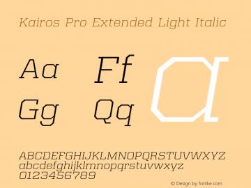 Kairos Pro Extended Light It Version 1.00图片样张