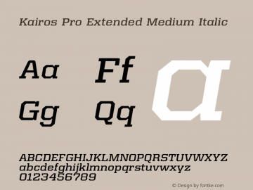 Kairos Pro Extended Medium It Version 1.00图片样张