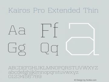 Kairos Pro Extended Thin Version 1.00图片样张