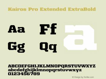 Kairos Pro Extended XBold Version 1.00图片样张