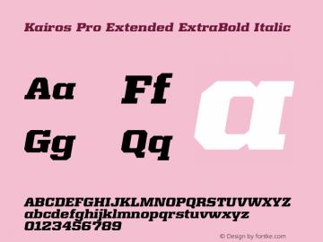 Kairos Pro Extended XBold It Version 1.00图片样张