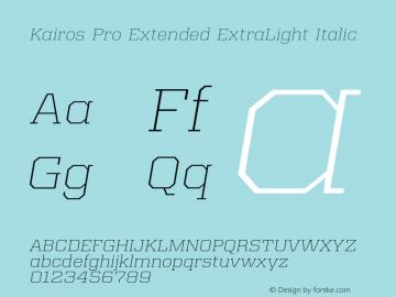 Kairos Pro Extended XLight It Version 1.00图片样张