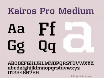 Kairos Pro Medium Version 1.00图片样张