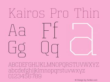 Kairos Pro Thin Version 1.00图片样张