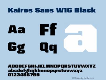 Kairos Sans W1G Black Version 1.00图片样张