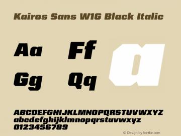 Kairos Sans W1G Black Italic Version 1.00图片样张