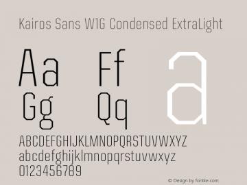 Kairos Sans W1G Cn ExtraLt Version 1.00图片样张