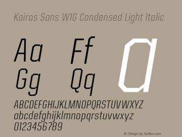 Kairos Sans W1G Cn Light It Version 1.00图片样张