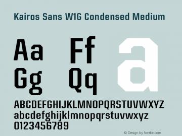 Kairos Sans W1G Cn Medium Version 1.00图片样张
