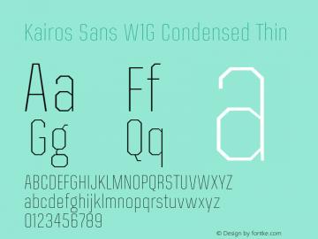 Kairos Sans W1G Cn Thin Version 1.00图片样张