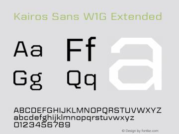 Kairos Sans W1G Ext Version 1.00图片样张