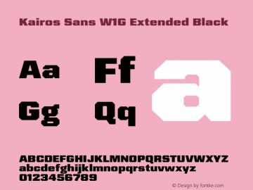 Kairos Sans W1G Ext Black Version 1.00图片样张
