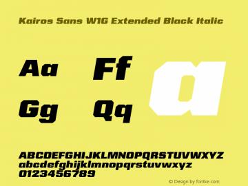 Kairos Sans W1G Ext Black It Version 1.00图片样张
