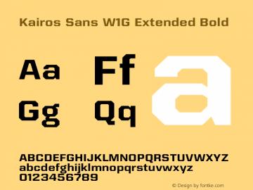 Kairos Sans W1G Ext Bold Version 1.00图片样张