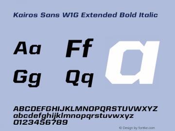 Kairos Sans W1G Ext Bold It Version 1.00图片样张