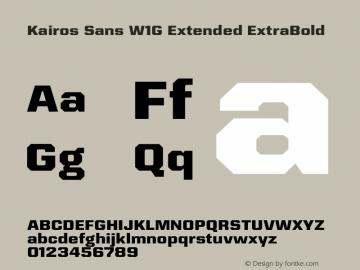 Kairos Sans W1G Ext ExtraBd Version 1.00图片样张