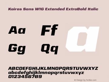 Kairos Sans W1G Ext ExtraBd It Version 1.00图片样张