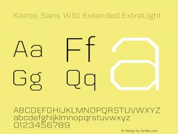 Kairos Sans W1G Ext ExtraLt Version 1.00图片样张