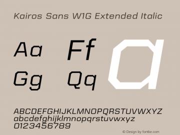 Kairos Sans W1G Ext Italic Version 1.00图片样张