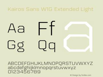 Kairos Sans W1G Ext Light Version 1.00图片样张