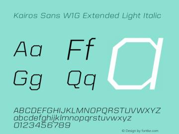 Kairos Sans W1G Ext Light It Version 1.00图片样张